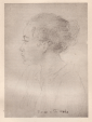 'Marae' -- pencil sketch by George Calderon, Tahiti 1906